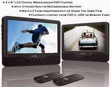 """Logik 9"""" 12 V TWIN schermo in-car & portatile auto poggiatesta Doppia Lettore DVD 12 V"""