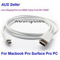 1.8M 6ft Mini DisplayPort DP Thunderbolt to HDMI Cable MacBook Pro NUC PC 1080P