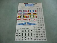 SCALEXTRIC A/236 Repro Bogen, Flags, Pit Numbers, Car Numbers, Flaggen, Startnr.