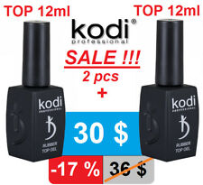 SALE! 2pcs! 12ml. Rubber TOP + TOP Kodi Professional Gel LED/UV Coat Original