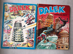 DALEK ANNUAL 1977 + FREE 1978  ANNUAL Terry Nation BBC TV  BOTH UNCLIPPED