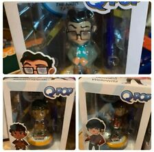 Quantum Mechanix Big Bang Theory Q-Pop Toy Figures -Leonard, Howard, Raj