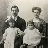 VTG RPPC Postcard C.1907-1915 Happy Family WARD 6831 Wentworth Ave Chicago IL