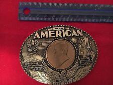 FIRST EDTION AN AMERICAN JOHN F KENNEDY COIN BELT BUCKLE No. 2391