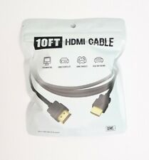 Gems Gold Plated 10FT HDMI Cable   Supports 3D, 4K at 60Hz, 2160p   Male A
