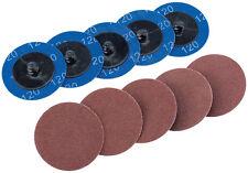 Genuine DRAPER Ten 50mm 120 Grit Aluminium Oxide Sanding Discs | 75611