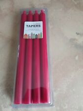 Luma Taper Candles Red Fragrance Free Set Of 4