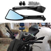 Universal Motorcycle CNC Black Rearview Mirrors For Honda Suzuki Kawasaki Yamaha