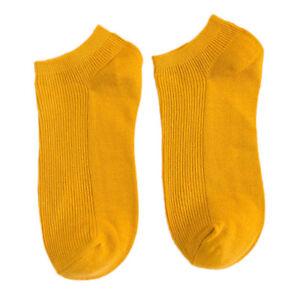 Men's No Show Socks Low Cut Invisible Non Slip Cotton Boat Liner Stripe Socks