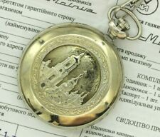 MINT Vintage Military Molnija Pocket Watch Vladimir the Great Kiev Cathedral