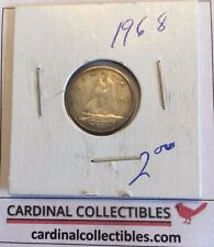 1968 Canadian 10 Cent SILVER in EXTRA FINE (EF) Condition
