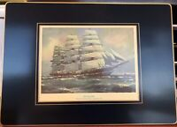"SET of 10 Vtg LADY CLARE London Clipper-Themed Hardboard Placemats 14"" x 10"""