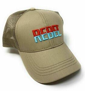 REBEL Fishing Mens Baseball Cap/Hat Adjustable Curved Bill Mesh Back - Tan