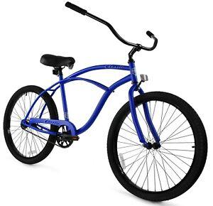 Zycle Fix Classic Beach Cruiser Men Bicycle Bike Blue Matte NEW