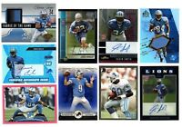 DETROIT LIONS 25 CARD LOT SANDERS STAFFORD JOHNSON AUTO JERSEY ROOKIE RC SP
