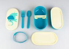 """Lunchbox-Set, Brotdose, Deckelmotiv Elefant """"Elvis"""", mit Besteck und 2 Schalen"""