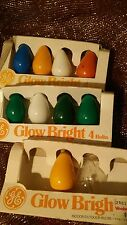 10 Vintage  Glow Bright Holiday String Lights/ Bulbs In Assorted Colors