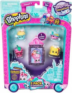 Shopkins S8 Europe Toy 5 Pack  56513 NEW GIFT TOY SET FREE SHIPPING