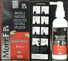 Pack 3 x New Morr-F 5% Hair Regrowth FDA Approved DHT Blocker Treatment (60 ml)