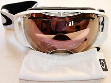 OAKLEY AIRBRAKE POLISHED WHITE W/ PINK VR50 IRIDIUM LENS GOGGLES NEW
