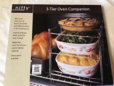 Nifty Home 3-Tier Oven Companion, Silver NIB