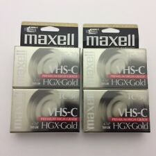 Maxwell 4 Pack VHS C TC-30 HGX Gold Tapes Camcorder Video Cassette Premium New