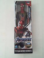 "Hasbro Titan Hero Series Marvel Avengers Iron Spider 12"" Action Figure Spiderman"