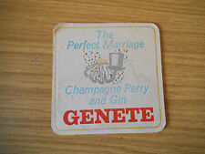 Genete Champagne Perry and Gin - 1960's / 1970's beer mat