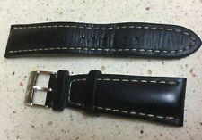 Breitling Black Calf Leather 24mm Genuine Men's Strap 441X (Used)
