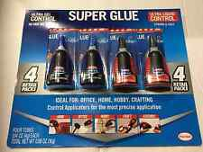 4 pc Loctite Super Glue (2 Ultra Gel Control & 2 Ultra Liquid Control) 4g Bottle