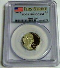 2013-S Proof Jefferson Nickel Birth Set PCGS PR69DCAM First Strike-FREE SHIPPING