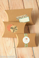 Textured Kraft Pillow boxes 5pc DIY packaging wedding party favours gift box