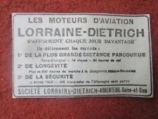 1/1926 PUB LORRAINE DIETRICH ARGENTEUIL MOTEUR AVIATION AERO ENGINE ORIGINAL AD