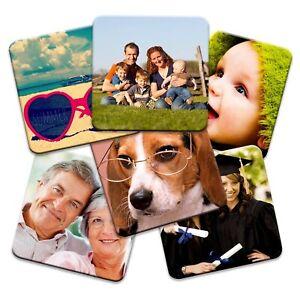 Set of 6 Personalised Square Photo Coasters!