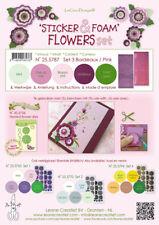 5 FOGLI di foamiran A4 colori misti SPESSORE 0,8 mm + adesivi per fiori foam ...