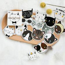 45PCS Kawaii Cat Head Mini Paper Label Stickers DIY Diary Album Stick Decor Lot