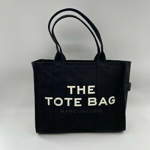 Marc Jacobs Traveler Canvas Tote Bag in Black Top Zip Extra Large MSRP $195