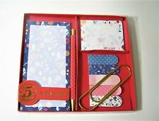 9pc Boxed Floral Stationery Home Office Desk Gift Set Notepad Sticky Notes +more