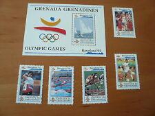 Grenada - Grenadines  Olympia 1992 Barcelona Mi 1535,1538,1539,1541,1544  postfr
