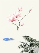 Wandbild Zeichnungsblume Farbig Wandtattoo Wandsticker Stiker