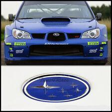 02-05 Subaru Blue Stars logo Front Grill Emblem Badge WRX STI Impreza Grille JDM