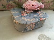 Lovely Antique Cotton Fabric Box Floral 1920-1950 Sewing Vanity #4