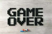 "Huge! 19"" x 10"" Game Over video game logo wall sign decoration art"