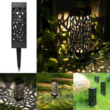 Solar Powered Garden Lights Waterproof Outdoor Patio Lawn LED Lamp Hollow Cover