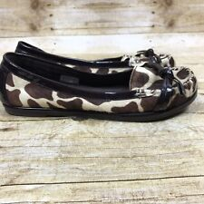 VOLATILE Women's Size 6.5 Animal Print Flats Leather Calf Hair Moc Loafers Shoes