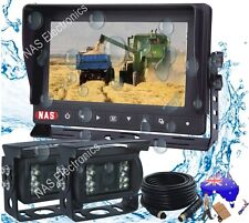 "Rear View System WIth Waterproof 7"" Reversing Monitor Dual CCD Backup Cameras"