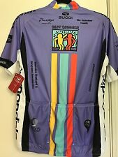 NWT Sugoi Team MARIA Biking Cycling Tour California Vintage Purple Jersey Size M
