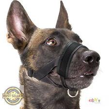 Dog Muzzle Nylon Soft Padding, Adjustable Loop, Black