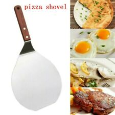13'' Stainless Steel Pizza Peel Bakers Round Paddle Wooden Handle Baking Tray UK