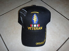 US Special Forces Airborne OPERATION IRAQI FREEDOM VET Black Hat